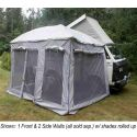 Front Wall for Standard Ezy Awning (Gray)