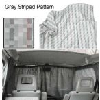 Front Curtain (Westfalia Gray Striped Pattern)