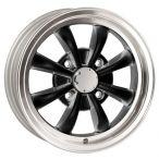 Wolfrace 8 Spoke Alloy Wheel 5.5 X 15 Gloss Black Polished