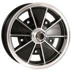 Wolfrace Brm Alloy Wheel 5.5 X 15 Black Polished