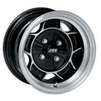 Wolfrace Classic Alloy Wheel 5.5 X 15 Black Polished