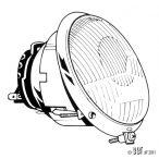 Sloping Headlamp pre 1967