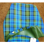 Blue/Green Plaid Seat Cover- Bottom Only
