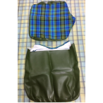 Blue/Green Plaid Seat Covers- 2 Sets Available- Priced Each